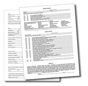 New Patient Questionnaires